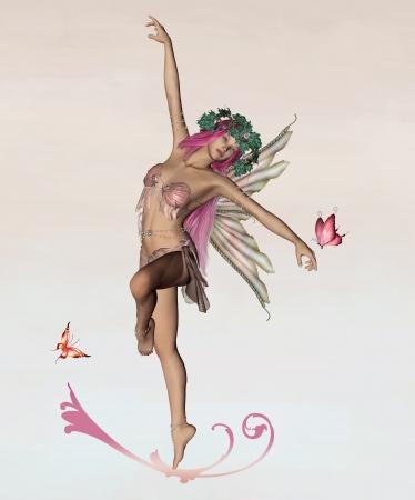 Faeries series - pink fae