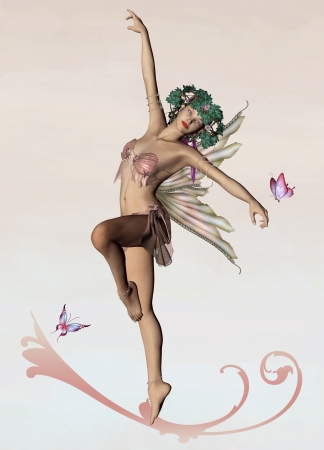 Faeries series - pink fairy Stock Photo - 14117256