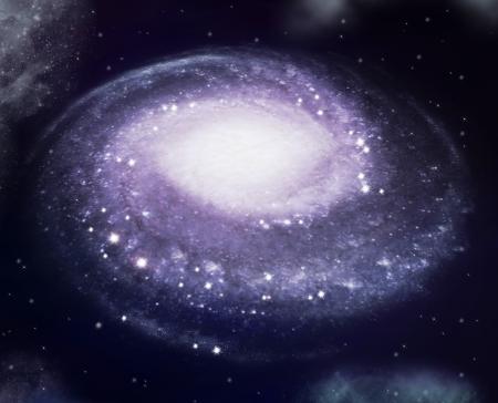 milky way: spiraalstelsel Stockfoto