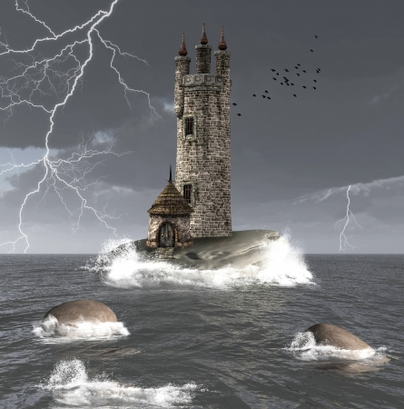 stormy: Mysterious tower