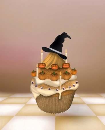 Halloween cupcake Stock Photo - 15034445