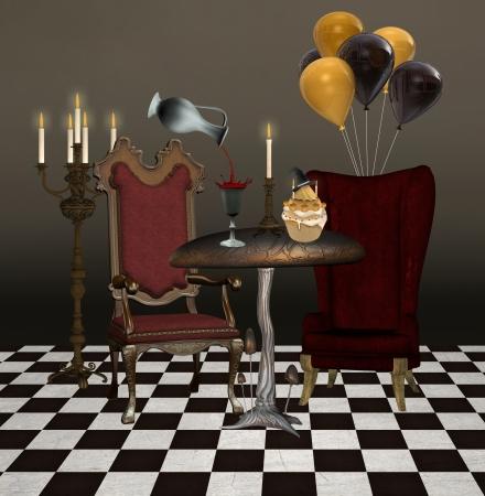 ewer: Halloween banquet