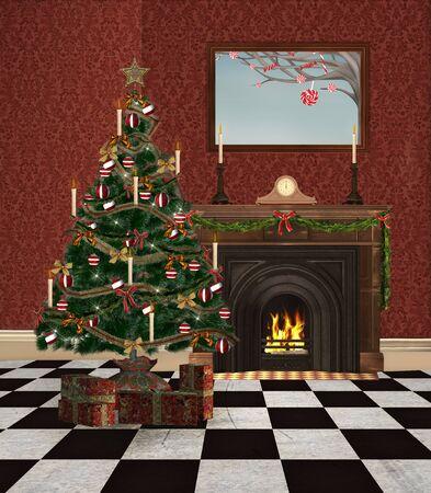 Christmas room Stock Photo - 15148943