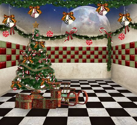 nocturne: Christmas room