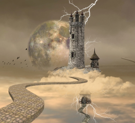 sorcerer: The wizard tower Stock Photo