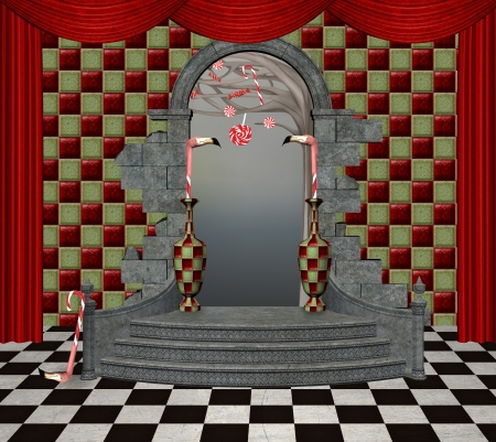 surrealism: Wonderland series - wonderland hall Stock Photo