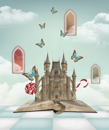 surrealism: Fantasy book Stock Photo