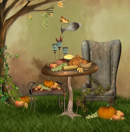 Banquet Thanksgiving Banque d'images
