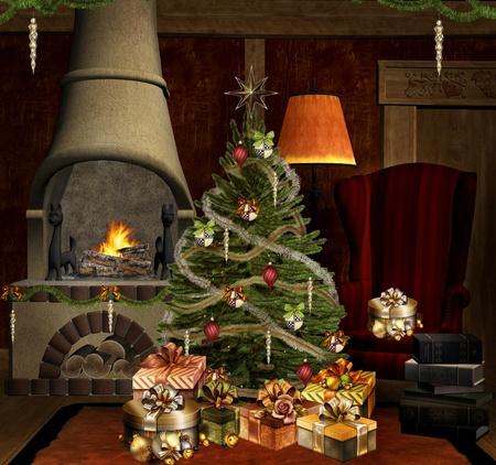 Christmas hall Stock Photo - 15761428