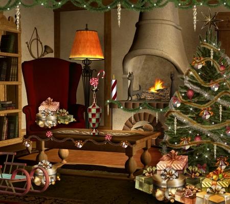 Sweet christmas room photo