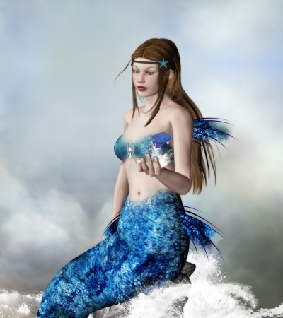 Mermaid - artistic portrait photo