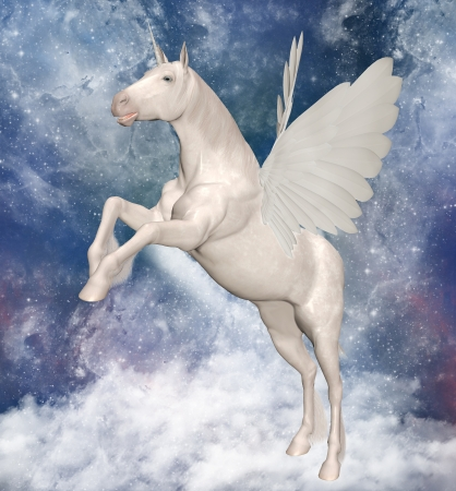 Pegasus over the clouds