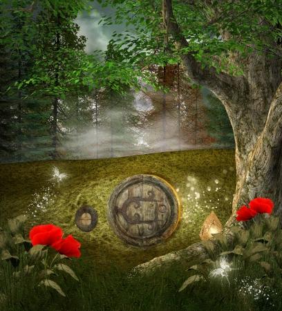 nocturne: Midsummer night dream series - elves house Stock Photo