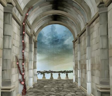 castle interior: Romantic castle room