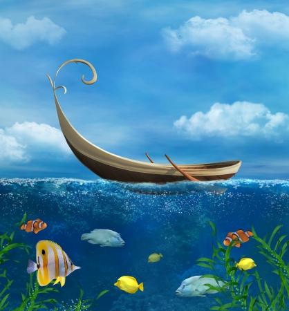 under water: Underwater Stock Photo