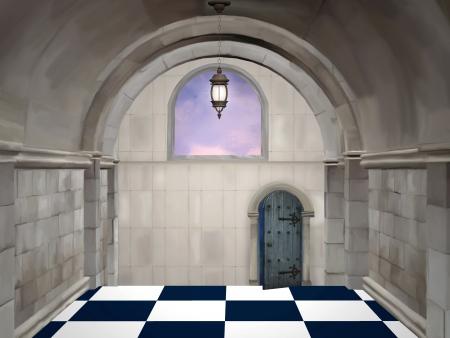 tablero de ajedrez: La sala de Foto de archivo