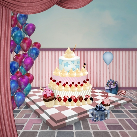 drape: Wonderland series - Birthday room