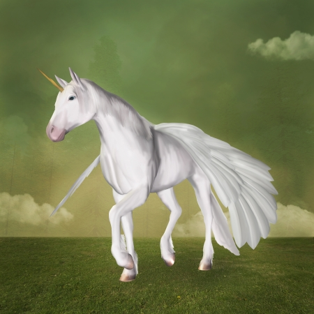 enchanted forest: Pegasus portrait