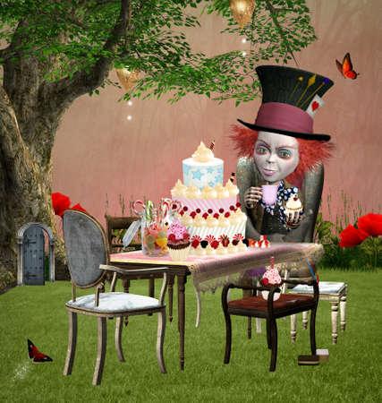 alice au pays des merveilles: Wonderland s�rie - L'anniversaire chapelier fou