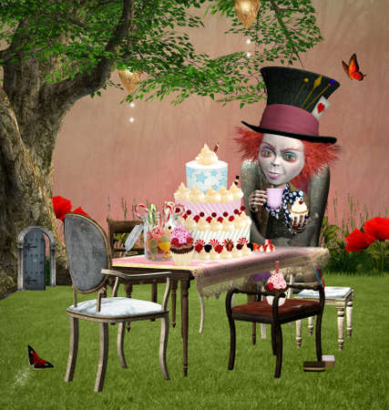 Wonderland series - The mad hatter birthday Stock Photo - 18583323