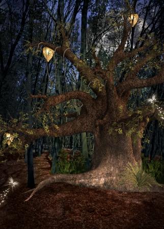 Moonlight lanterns: Enchanted chất series - Đêm trong rừng