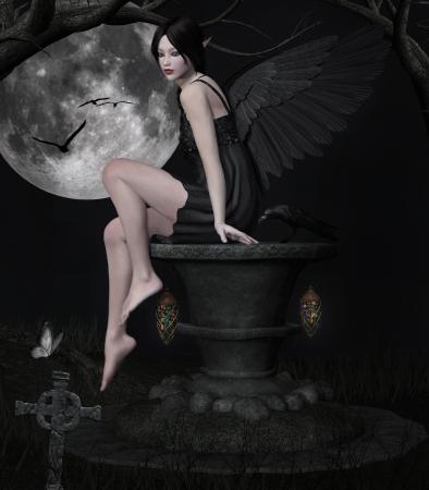 fantasy makeup: Dark night