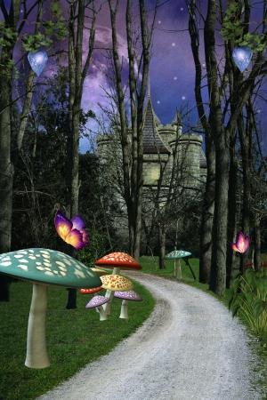 Enchanted footpath photo