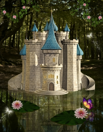 fairytale castle: Enchanted castle Stock Photo