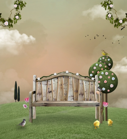 봄 정원 스톡 콘텐츠 - 20210023