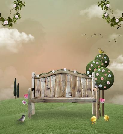 Voorjaar tuin