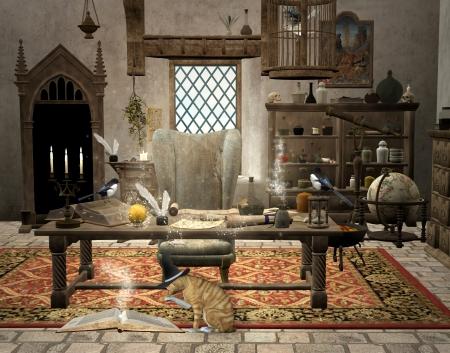Chambre magie magicien Banque d'images - 20377990