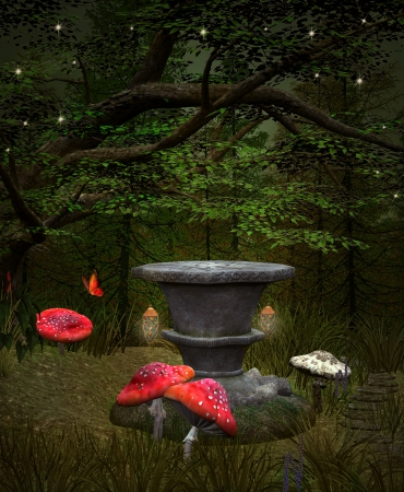 Midsummer night s dream series - Fairies pedestal Stock Photo - 20820733