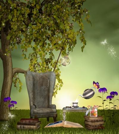 Books garden