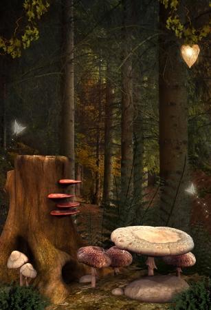 Encantada naturaleza series - magic lugar otoñal Foto de archivo - 21482908