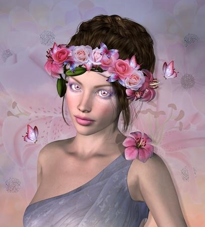 Roses fairy Stock Photo - 22342512