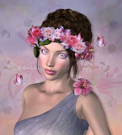 Roses fairy Stock Photo - 22342512