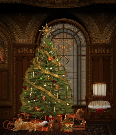 Elegant christmas room photo