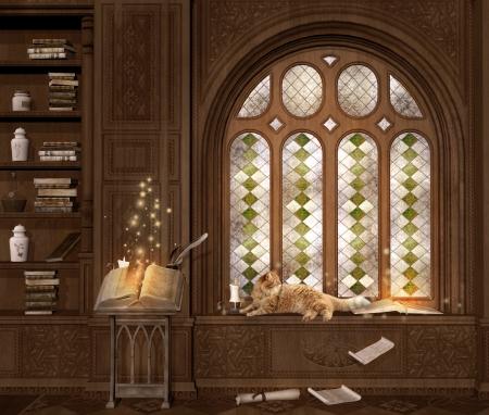 A room for study 版權商用圖片