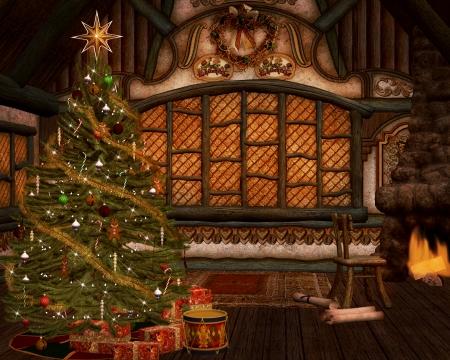 Santa Claus house photo