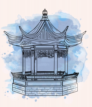pavilion: Little oriental pavilion Illustration