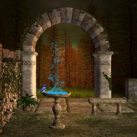garden fountain: The secret place