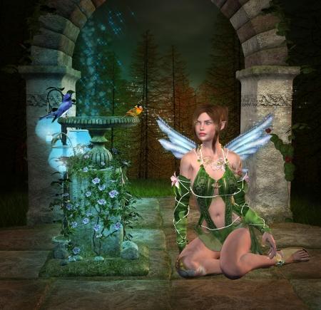 garden fountain: Heaven 3D