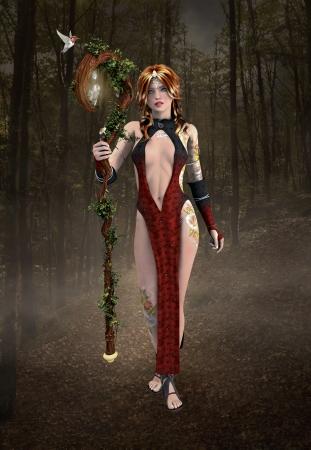 wood nymph: Tha wanderer