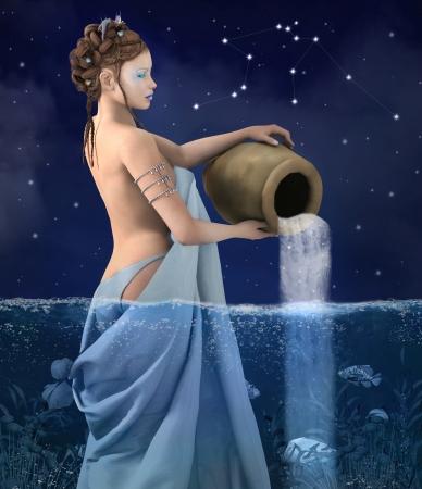 constelacion: Serie del zodiaco - acuario