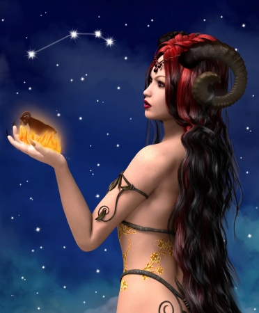 Zodiac series - aries 写真素材