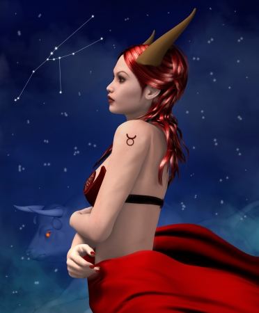 personification: Zodiac series - Taurus Stock Photo