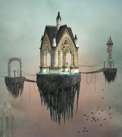 Fantasy village 写真素材