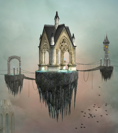 Fantasy village 版權商用圖片
