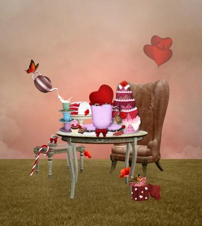 velvet ribbon: Valentine banquet