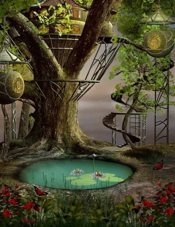 Enchanted tree house